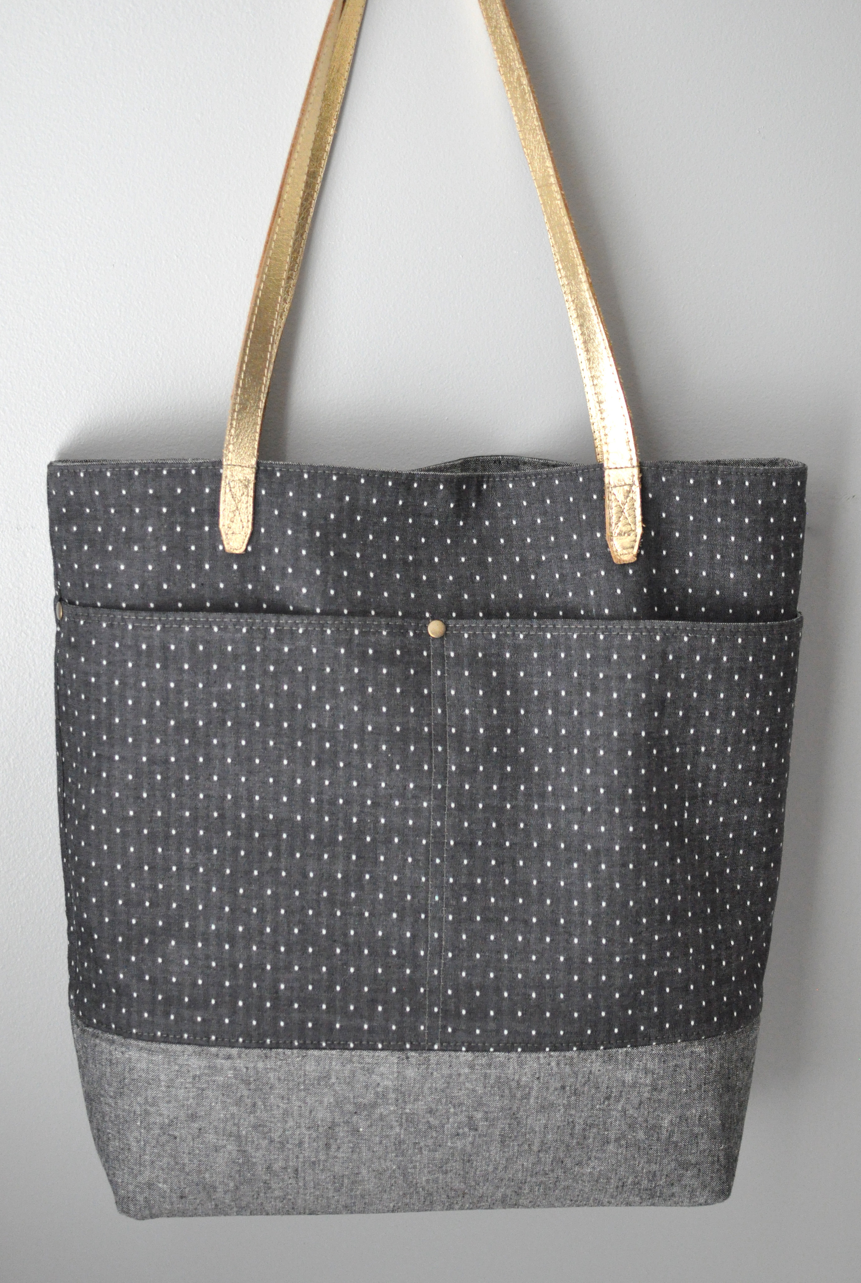 Everyday Tote | Chambray Dot