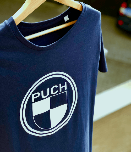 Puch Logo T-Shirt | Blue & White