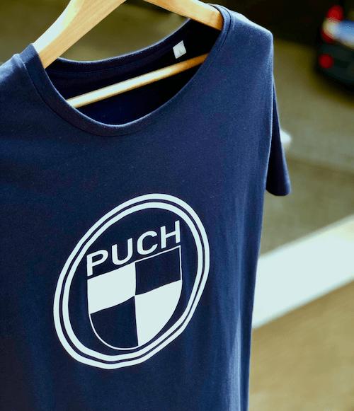 Puch Logo T-Shirt | Blue & White