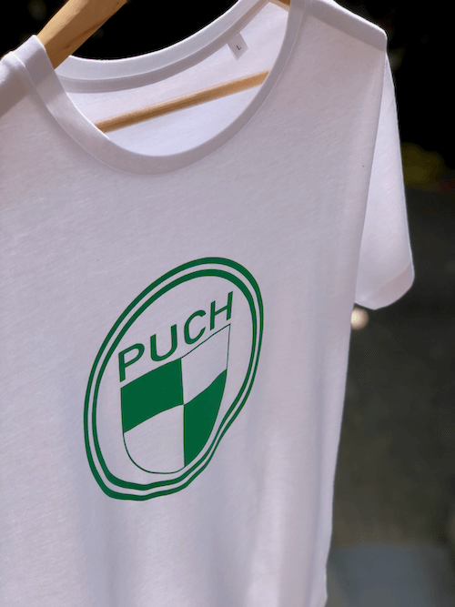 Puch Logo T-Shirt | White & Green