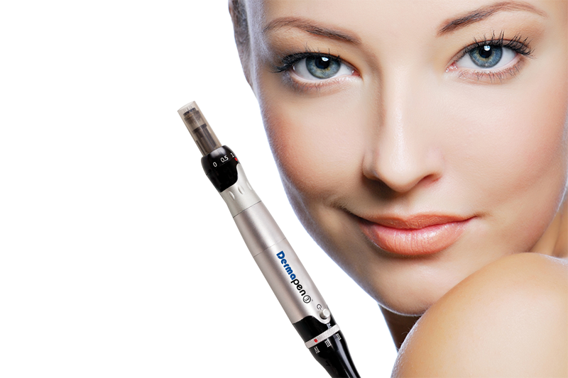 Microneedling with Hyaluronic Acid (skin texture)