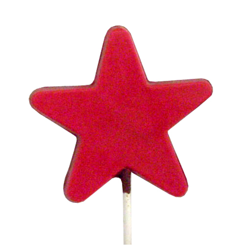 Chocolate Lollipops - Pollylops® - Star - Flat 770