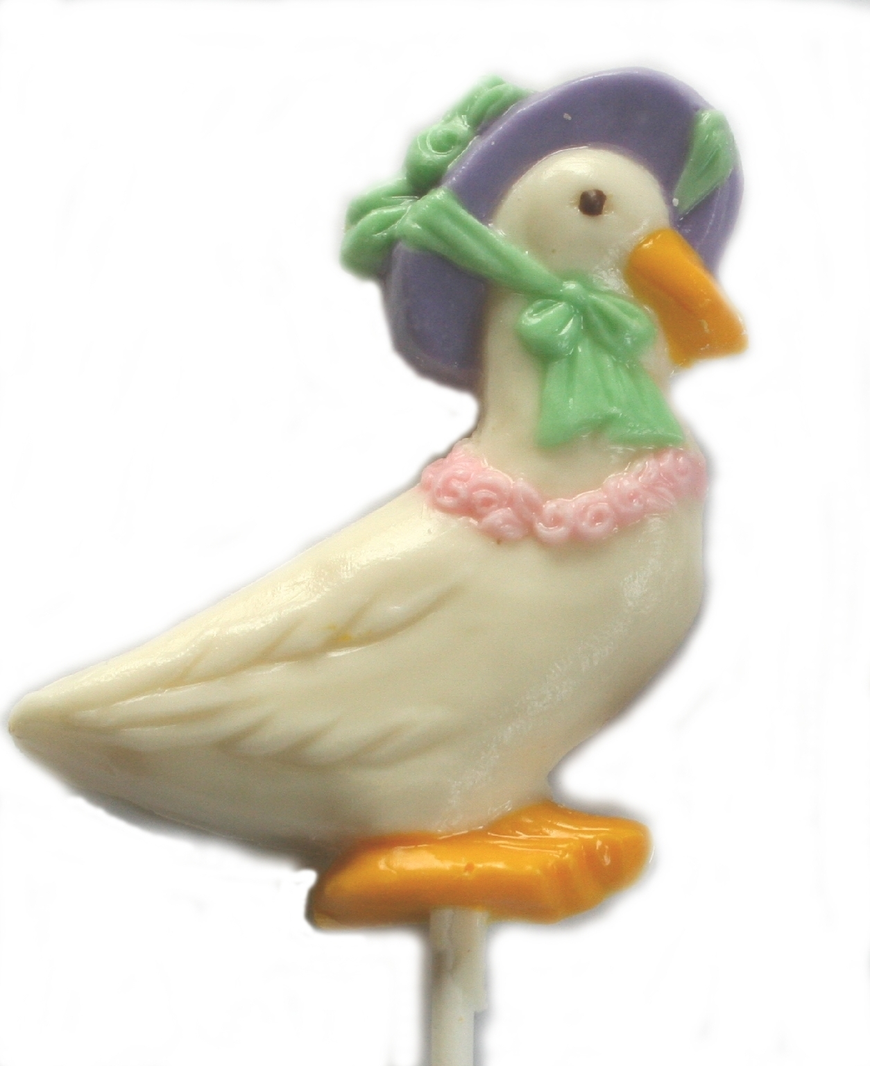 Chocolate Lollipops - Pollylops® - Goose with Bonnet 341