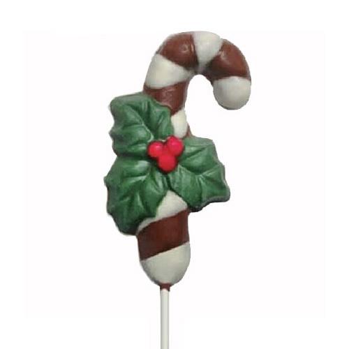 Chocolate Lollipops - Pollylops® - Candy Cane / Wholesale W-101