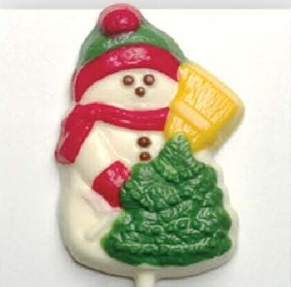 Chocolate Lollipops - Pollylops® - Snowman with Tree W-123