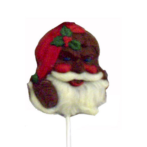 Chocolate Lollipops - Pollylops® - Bearded Santa (142) - Wholesale W-142