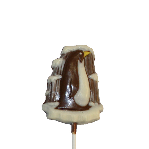 Chocolate Lollipops - Pollylops® - Penguin on Ice / Wholesale W-146