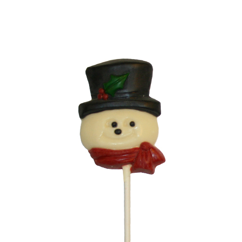 Chocolate Lollipops-Pollylops®-Snowman Face W-151
