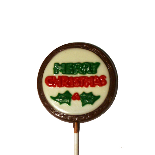Chocolate Lollipops - Pollylops® - Merry Christmas/Wholesale W-152