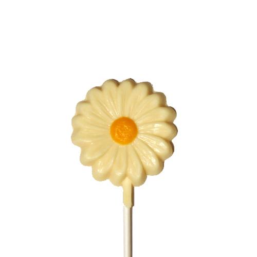Chocolate Lollipops (Pollylops® Single Daisy / Wholesale) W-318
