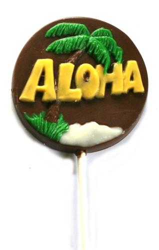 Chocolate Lollipops - Pollylops® - Aloha - Wholesale W-426