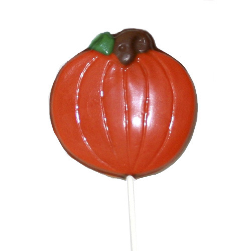 Chocolate Lollipops-Pollylops®-Pumpkin/Wholesale W-515