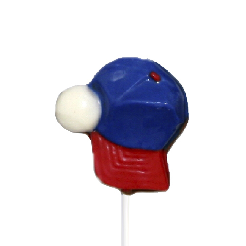 Chocolate Lollipops - Pollylops® - Baseball Cap and Ball - Wholesale W-753