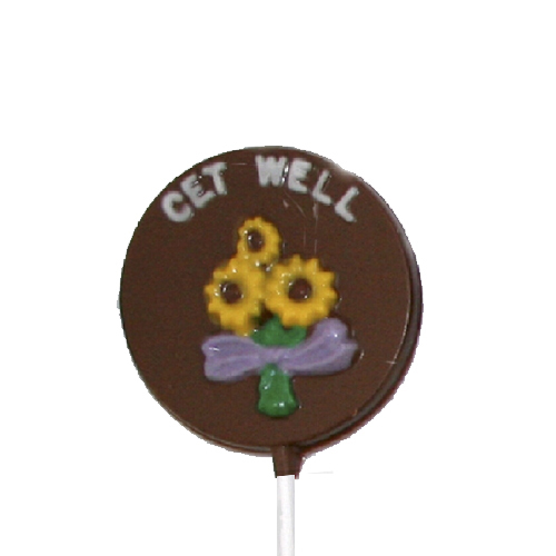 Chocolate Lollipops - Pollylops® - Get Well W-783