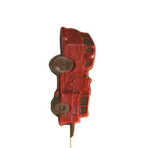Chocolate Lollipops - Pollylops® - Fire Truck W-810