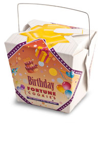 Themed Fortune Cookies (Birthday Yellow / Wholesale) W-FCBN