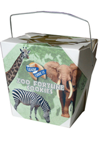 Themed Fortune Cookies - Zoo / Wholesale W-FCZO