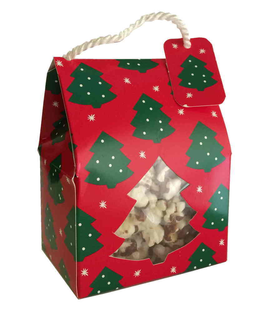 Gourmet Chocolate Drizzled Popcorn - 1.5 oz Rope Box - Wholesale W-PCRB Rope Box