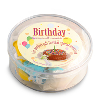 Microwave Cake Happy Birthday Yellow / Wholesale W-PMBCY / PMBWY