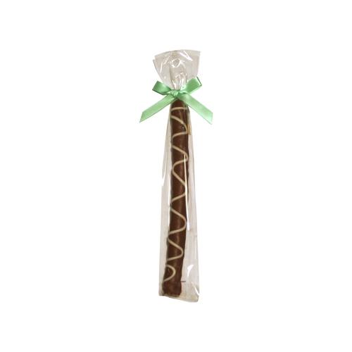 Gourmet Pretzel Rod - Chocolate Dipped - Single w/Bow- Wholesale W-PR121