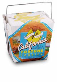 Themed Fortune Cookies (Taste of California / Wholesale) W-RECA