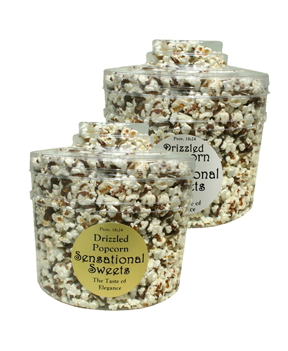 Gourmet Chocolate Drizzled Popcorn (3/4 lb. Molded Canister) PC105