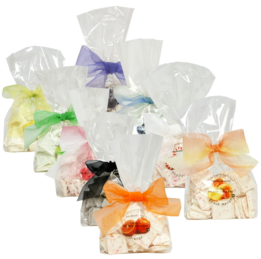 Clear Bag With Sheer Bow 1/3 lb. Clear Bag With Bow