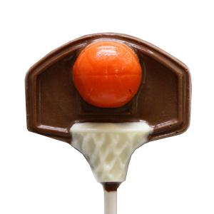 Chocolate Lollipops - Pollylops® - Basketball On Hoop
