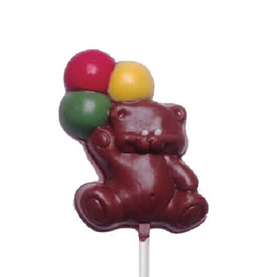 Chocolate Lollipops - Pollylops® - Bear with Balloons