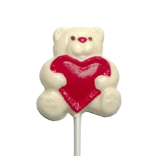 Chocolate Lollipops - Pollylops® - Bear With Heart 211