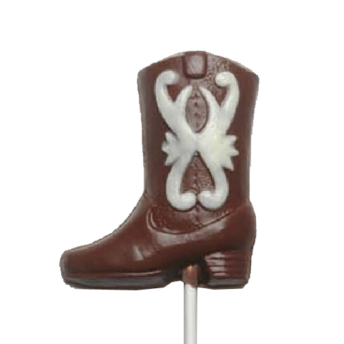 Chocolate Lollipops - Pollylops® - Cowboy Boot - painted 731P