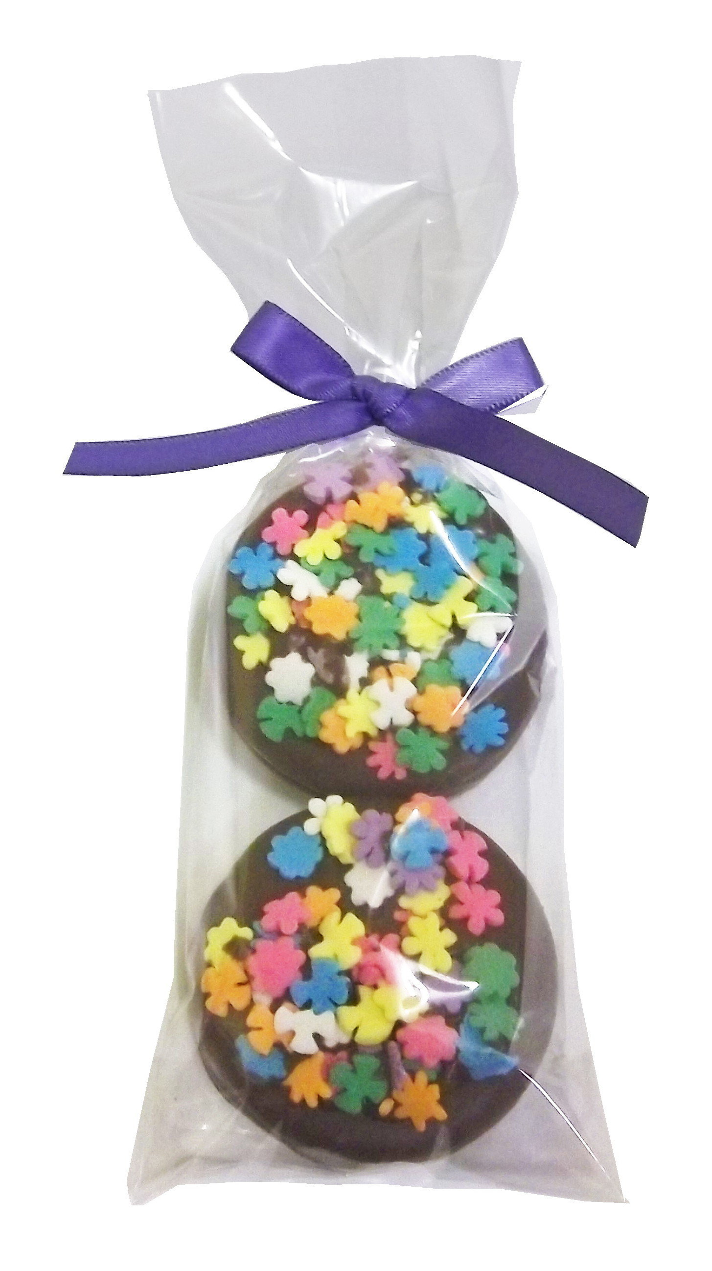 Gourmet Chocolate Dipped Oreo® - 2 Pack - Decorated w/Bow - Wholesale W-OR122D