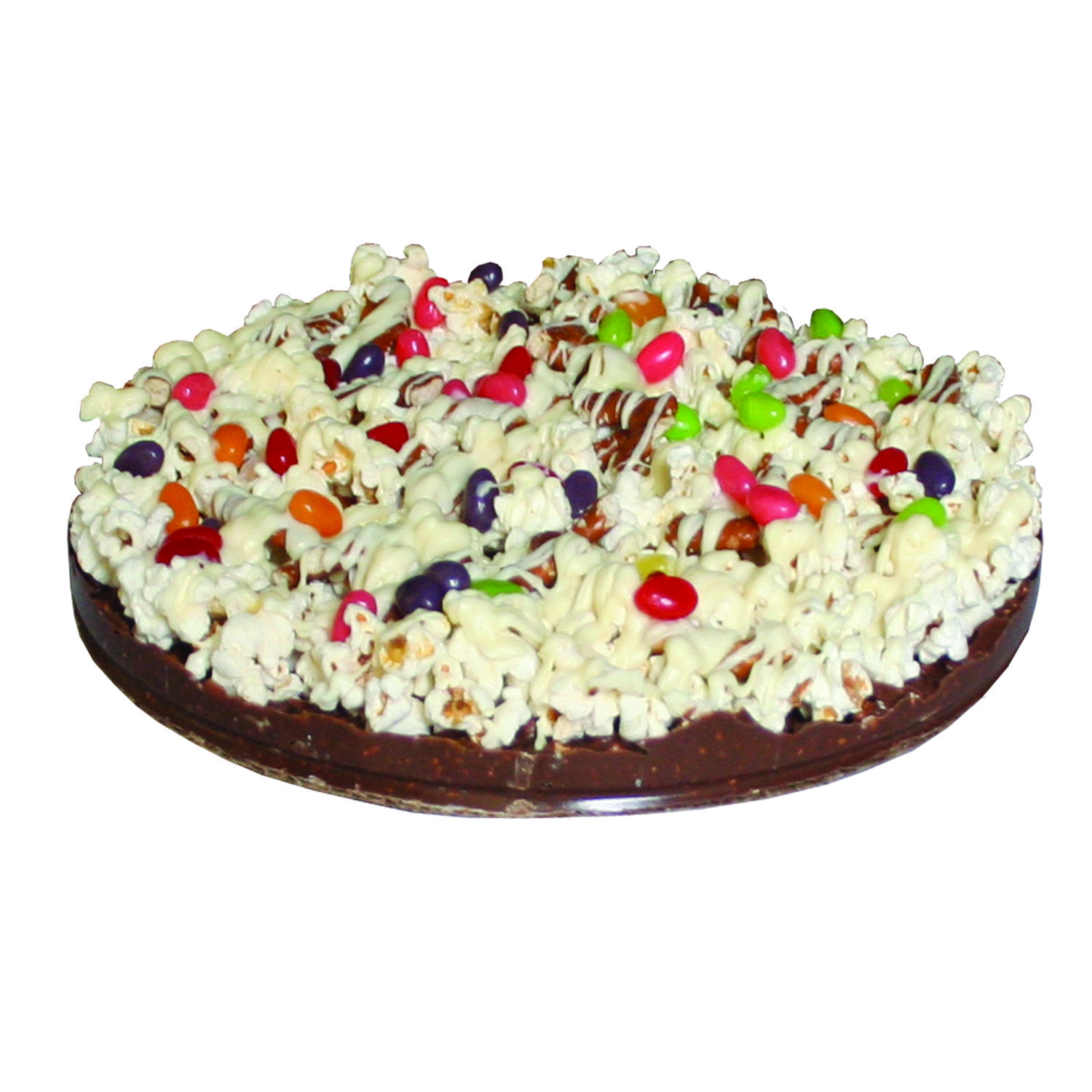 Gourmet Chocolate Pizza - Pizazz™ - Mini - Gluten Free - Supreme - Jelly Bean - Wholesale W-MIGFSUJB