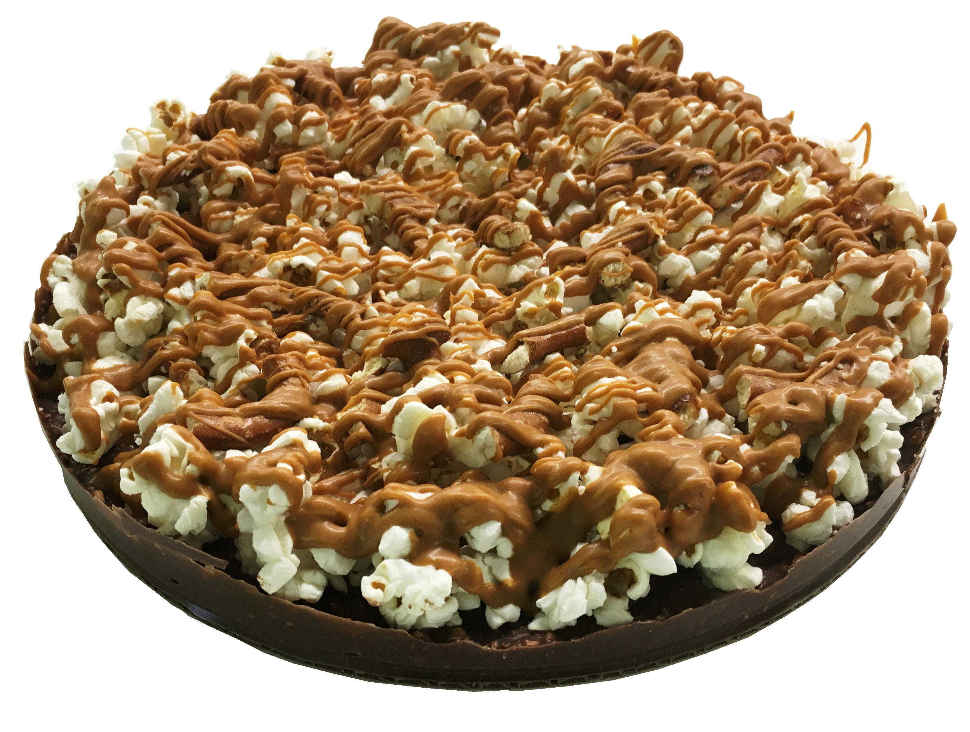 Gourmet Chocolate Pizza - Pizazz™ - Mini - Gluten Free - Supreme - Sea Salt Caramel - Wholesale W-MIGFSUCA