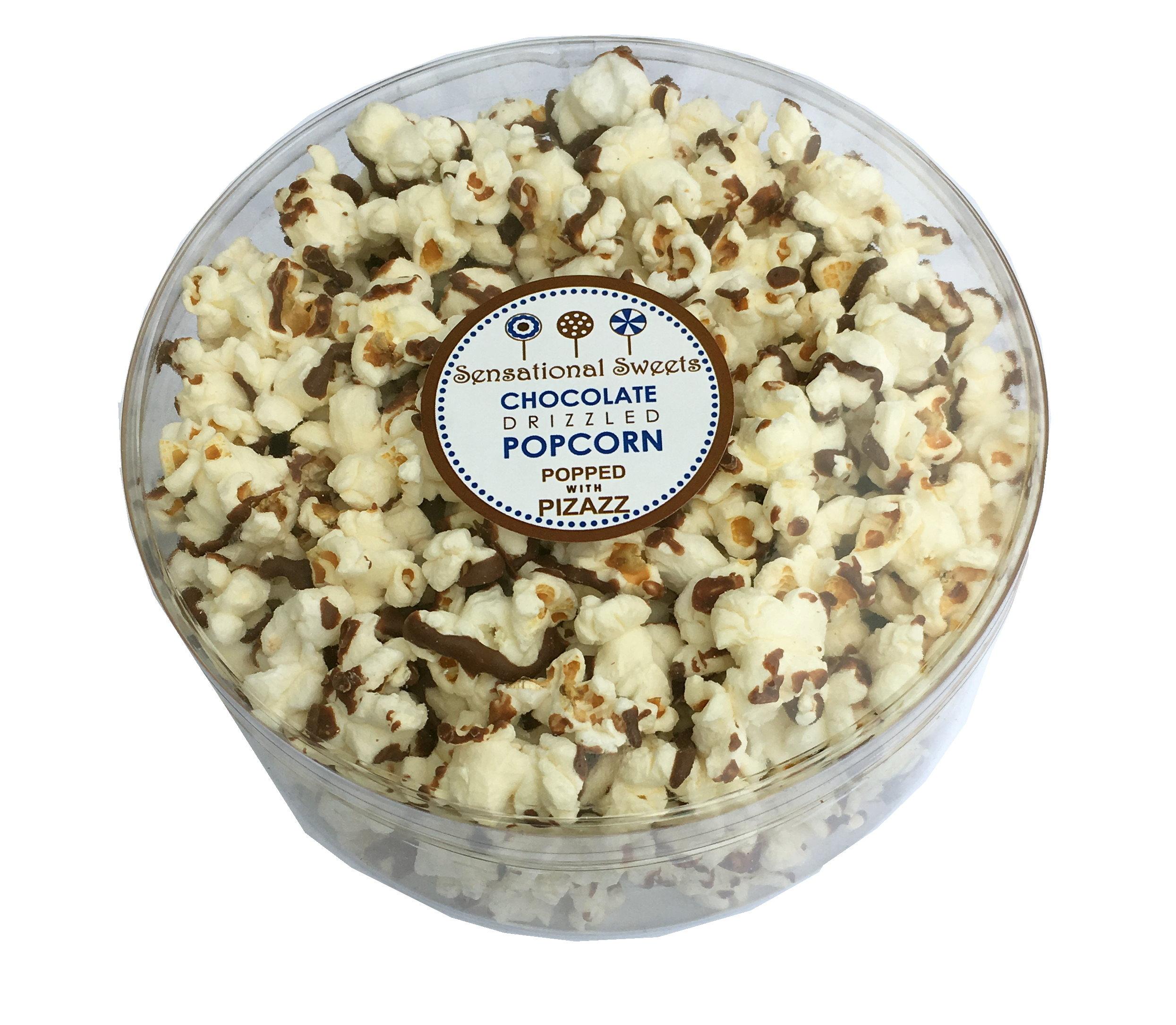 Gourmet Chocolate Drizzle Popcorn - 3 oz. Small Tub - Wholesale W-PCDLX