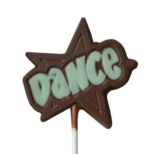 Chocolate Lollipops - Pollylops® - Dance Star / Wholesale W-809