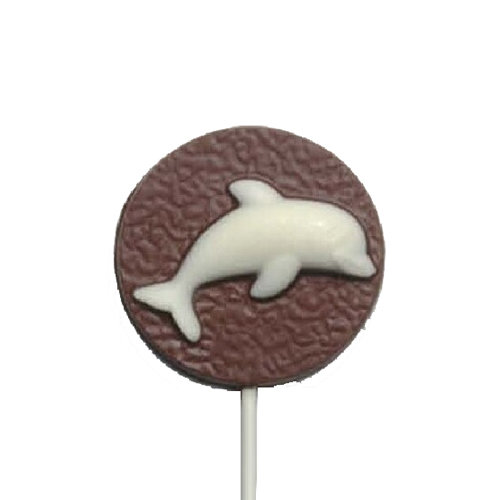 Chocolate Lollipops - Pollylops® - Dolphin on disk / Wholesale W-401