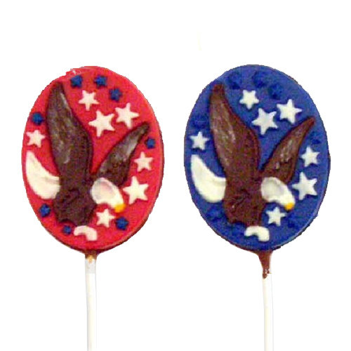 Chocolate Lollipops - Pollylops® - Eagle with Stars / Wholesale W-772