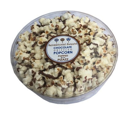 Gourmet Chocolate Drizzled Popcorn 3 oz. Deluxe Small Tub