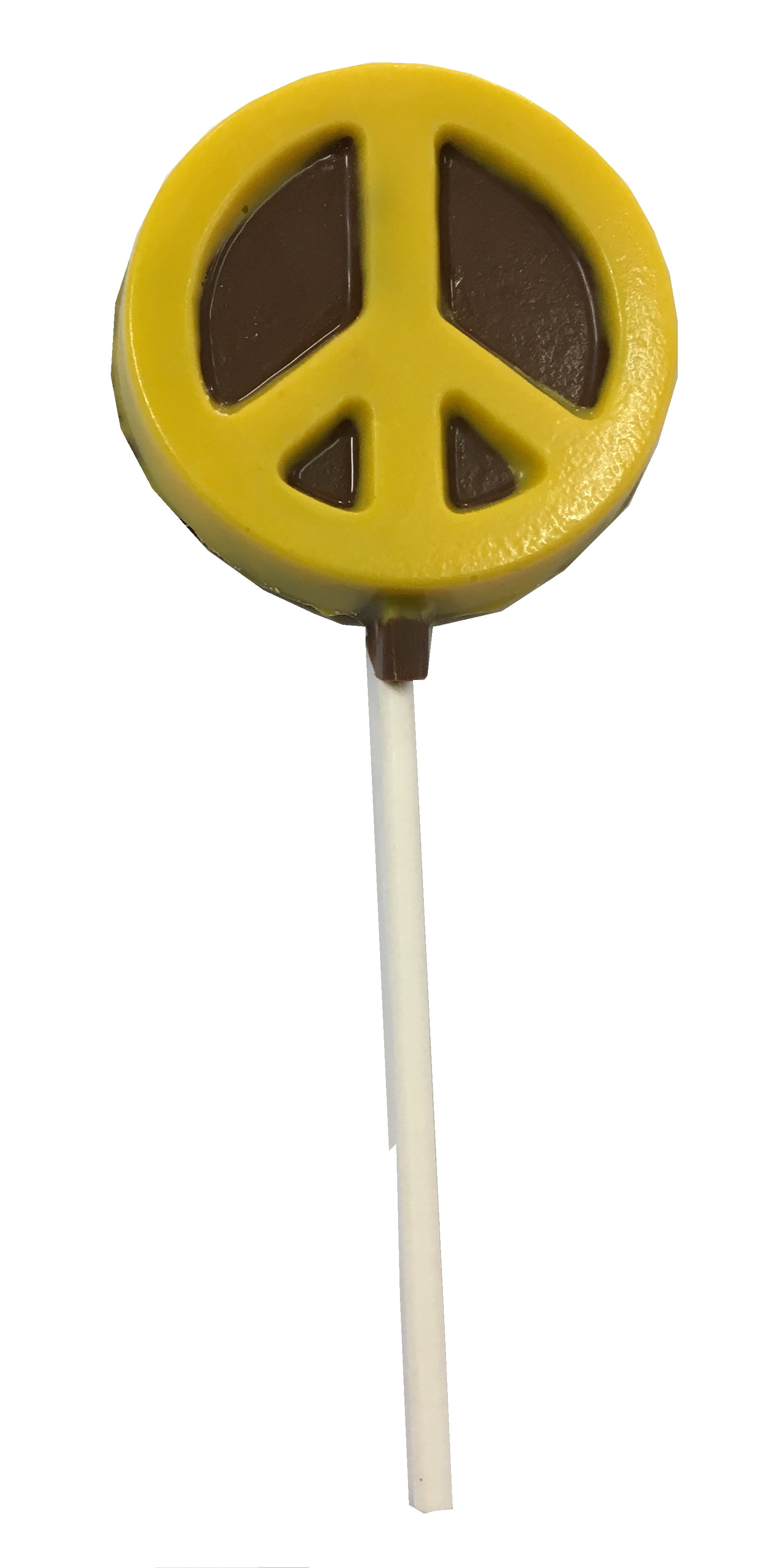Chocolate Lollipops-Pollylops®-Peace Sign 832