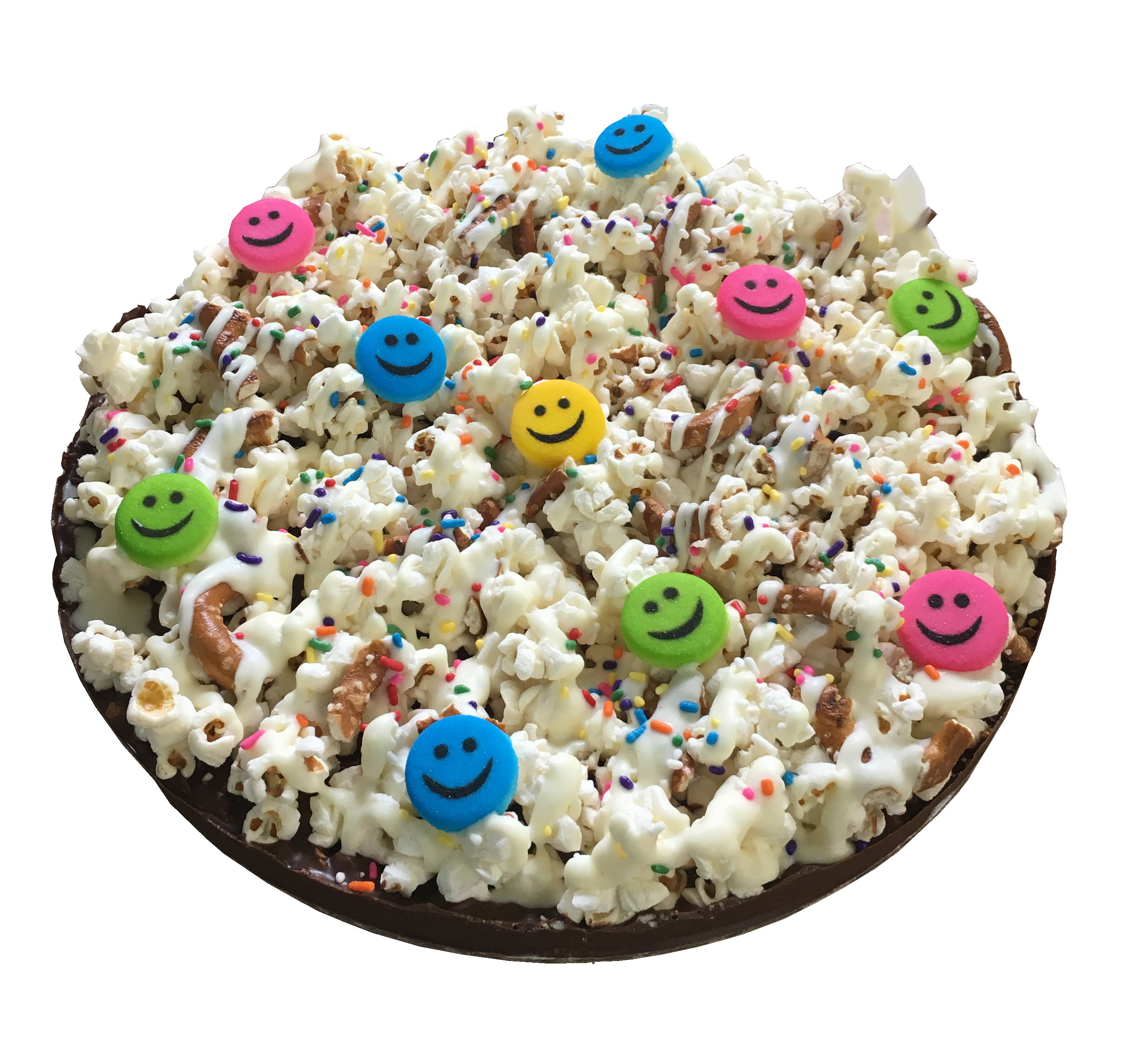 """Gourmet Chocolate Pizza with Pizazz 10"""" (Smile) PZSF"""