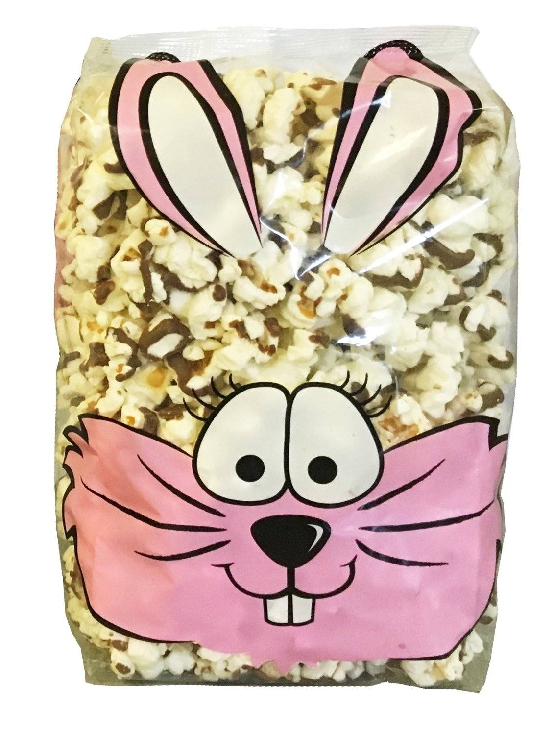 Gourmet Chocolate Drizzled Popcorn (3 oz. Bunny Bag)