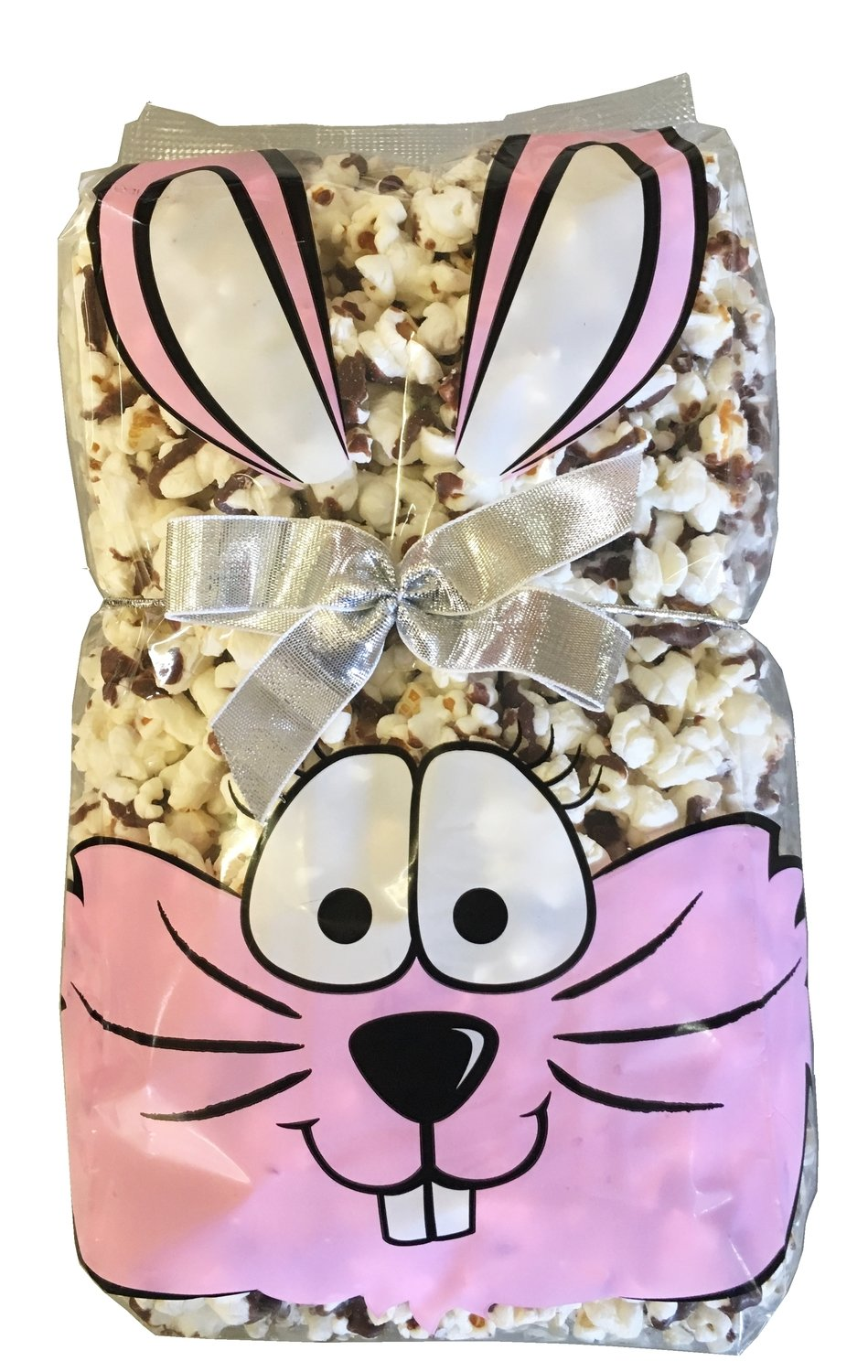 Gourmet Chocolate Drizzled Popcorn (1/2 lb. Bunny Bag With Bow)