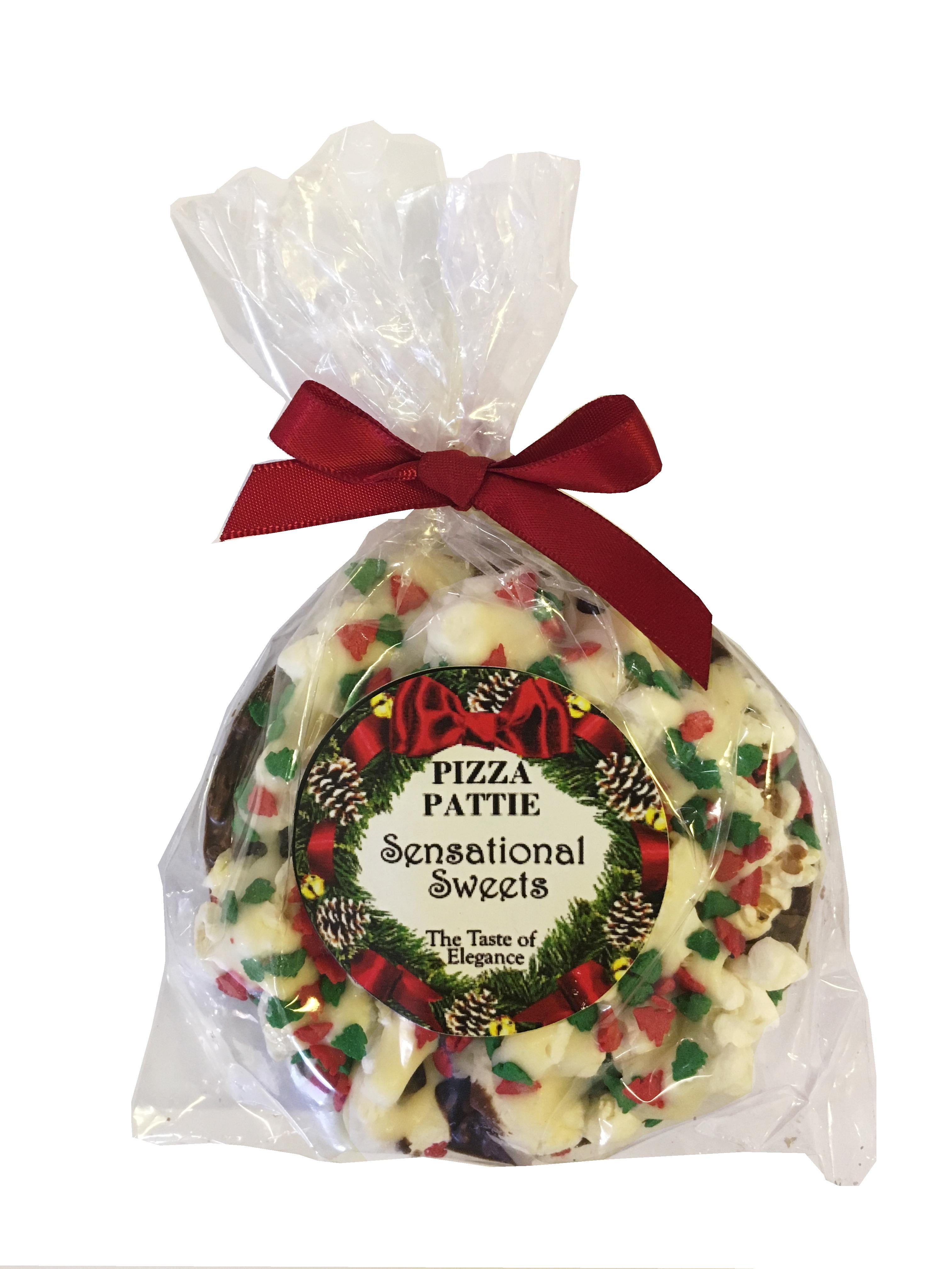 Gourmet Chocolate Pizza Pattie (Christmas Label) PZPDLX