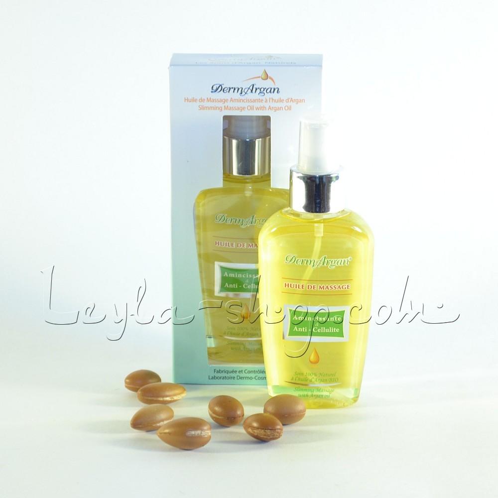 Аргановое масло для массажа с анти-целлюлитным эффектом DermArgan