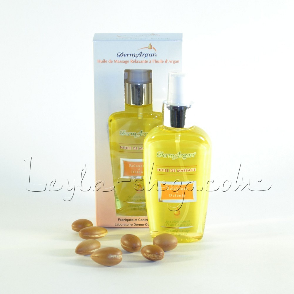 Аргановое масло для массажа с успокаивающим и расслабляющим эффектом DermArgan