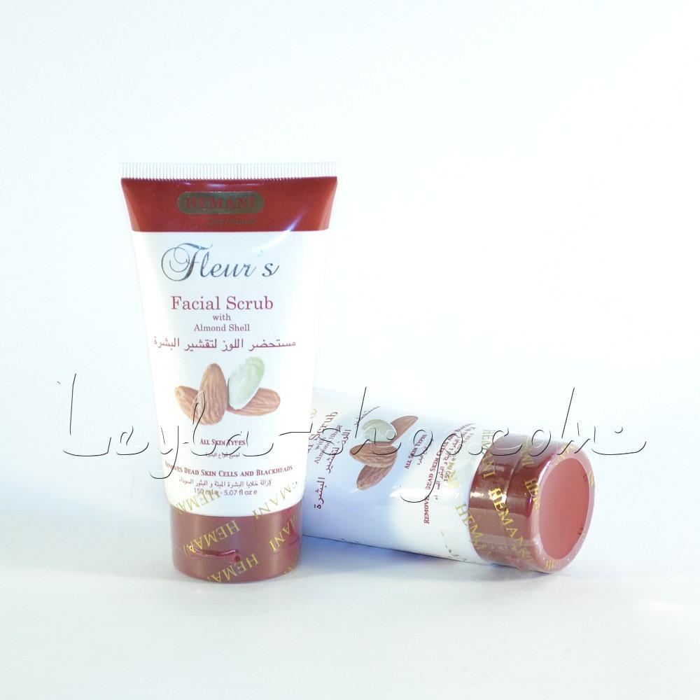 Скраб для лица Facial Scrub with Almond Shell Fleur's Hemani