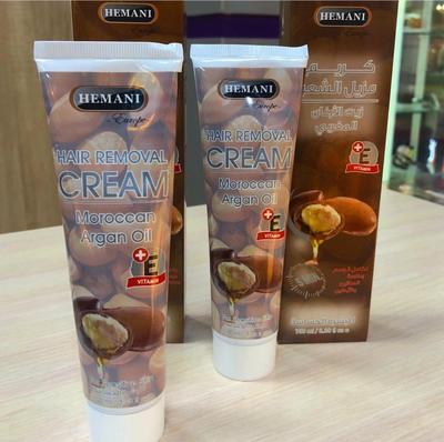 Крем для удаления нежелательных волос c маслом арганы и витамином Е Hemani