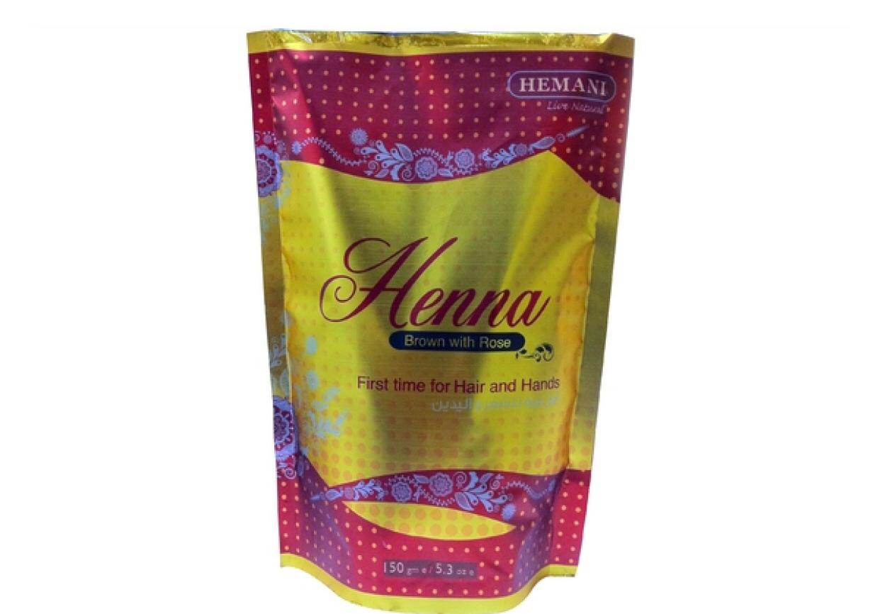 Хна для волос Henna Brown with Rose Hemani