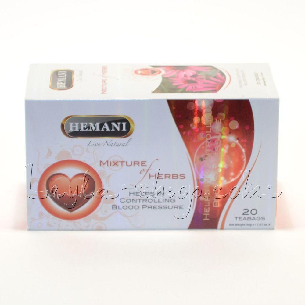 Чай Mixture of Herbs Helps in Controlling Blood Pressure Hemani (для артериального давления)